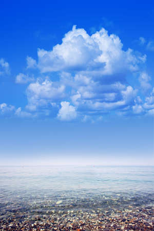 blissfull: blue sky on sea water Stock Photo