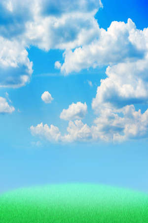 blissfull: blue sky on revenge Stock Photo