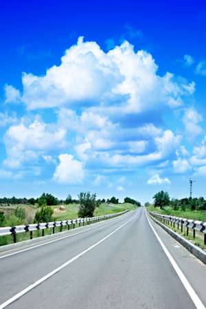 agruculture:  road on background sky Stock Photo