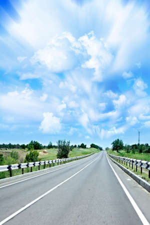 beautiful blue sky and cloud on become cool landscape with  expensive photo