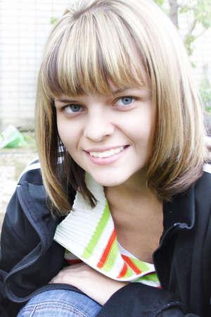 smile beautiful girl photo