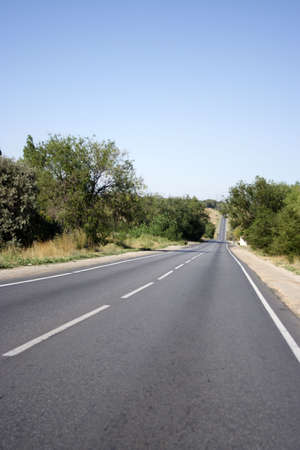 sectoring: car road on background sky Stock Photo