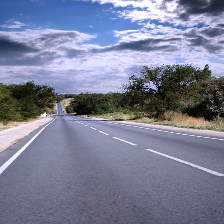 car road under beautiful solar year sky photo