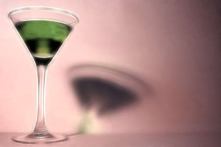 abstract scene green drink in glass liquor-glass photo