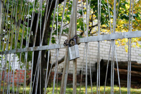 old metallic lock  photo