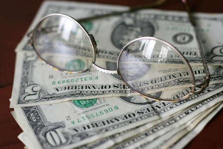 scene with dollars