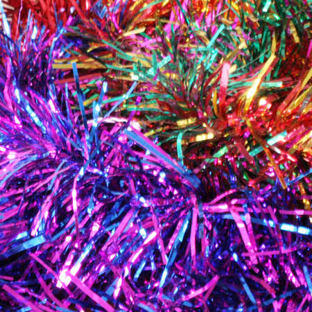 perforation: abstract scene of the christmas decorations Stock Photo