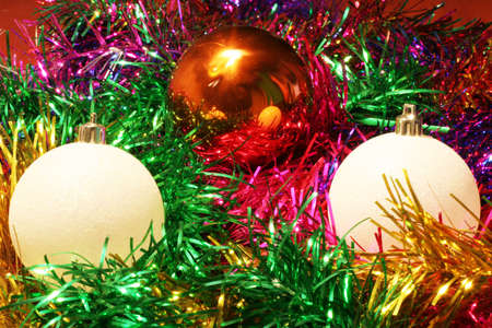 matte: abstract scene of the christmas decorations Stock Photo