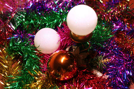 abstract scene of the christmas decorations photo
