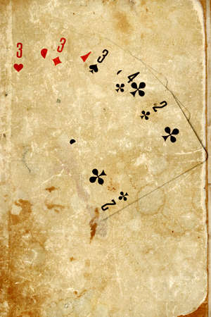 abstract scene of the playing cards photo