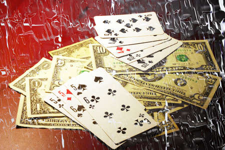 abstract scene of the game of poker photo