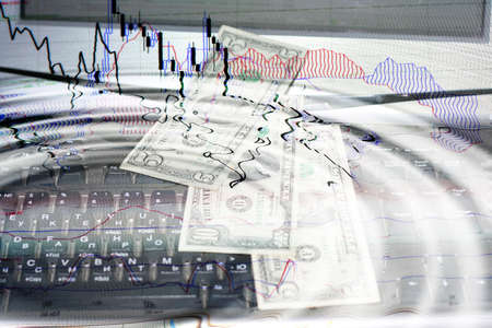 perforation: abstract scene of the financial crisis