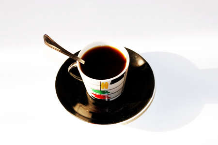 gentile: cup matutinal coffee Stock Photo