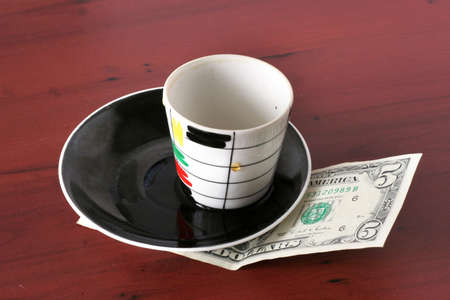 gentile: payment by cash for cup of the hot drink