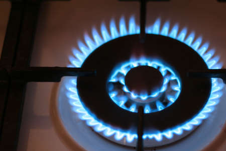 abstract scene with brightly burning natural gas