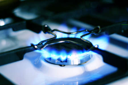 brightly burning natural gas photo