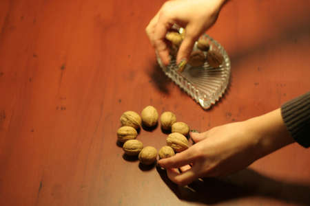 nuts on table Stock Photo - 4021075