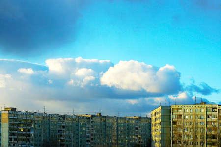 city on background sky Stock Photo - 4024826