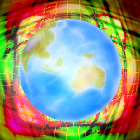 abstract scene with planet on background photo
