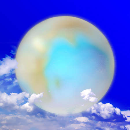 world agricultural: abstract scene planet on celestial background Stock Photo