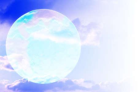 non urban scene: abstract scene sky and planet