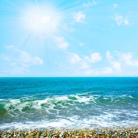 beautiful sky on year beach photo