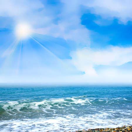 Beautiful Sky sur l'année plage Banque d'images