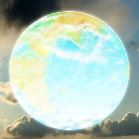 abstract background with scene planet photo