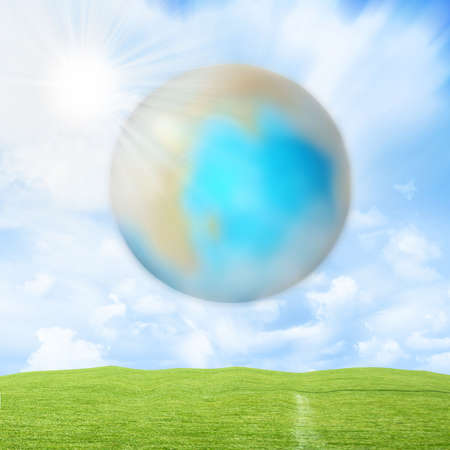 gentile: abstract background with scene planet Stock Photo
