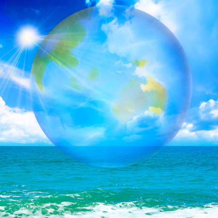 abstract scene with planet photo