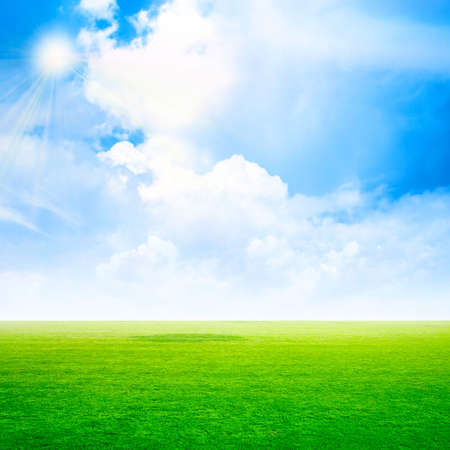 abstract scene grassy under sky photo