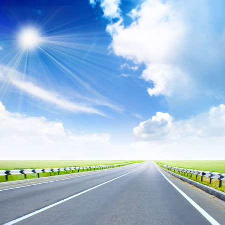 beautiful year shining sky on country expensive Stock Photo - 4157741