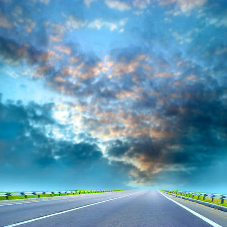country car road on sundown of the year day Stock Photo - 4157963
