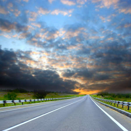abstract scene with road on sundown of the year day Stock Photo - 4182130