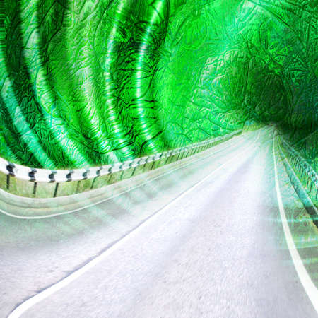 abstract scene with road Stock Photo - 4202448