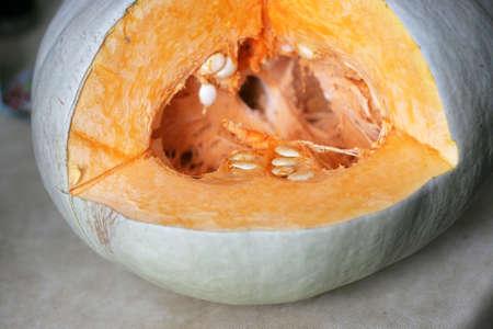 refreshment: fresh ripe pumpkin for morning meal