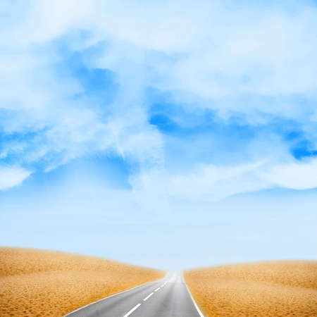 road in the desert under sky photo