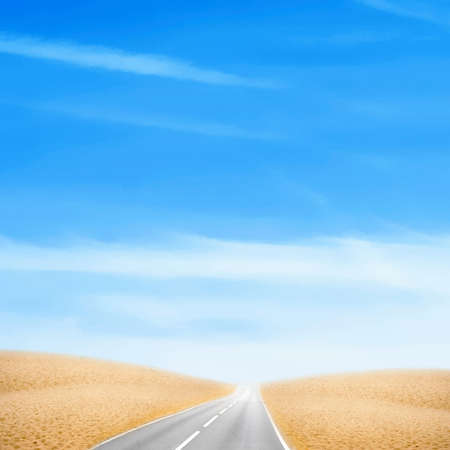 car expensive in desert under brightly blue sky Stock Photo - 4255438