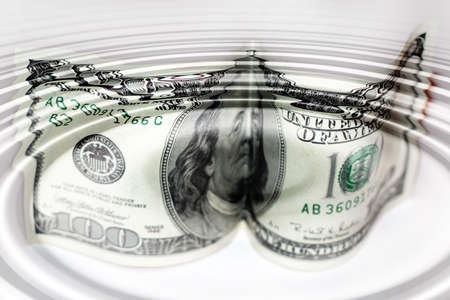 gentile: abstract scene of the american dollar