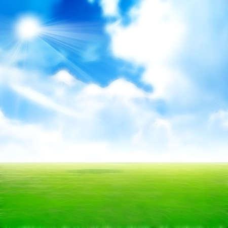 lea: abstract scene meadow under year celestial landscape Stock Photo