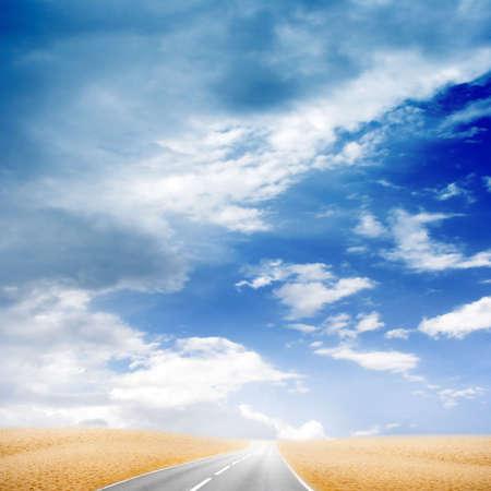 lea: road in desert