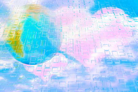 remote view: abstract scene rose heart and planet