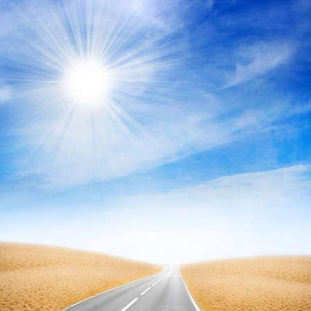 sectoring: sky on car expensive in desert