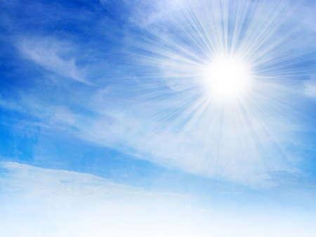 lea: scene with glow solar sky
