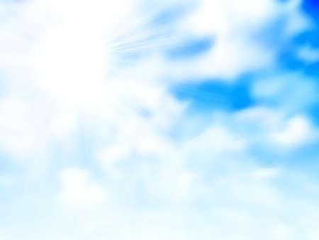 lea: abstract scene with shining blue sky Stock Photo