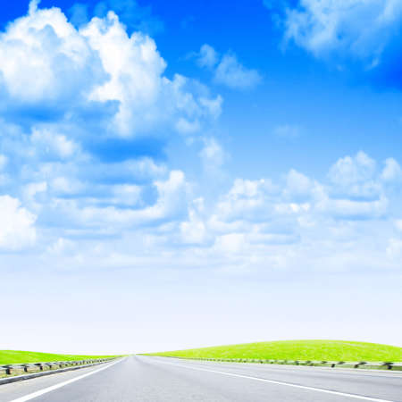 sectoring: shining sky and road