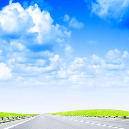 lea: shining sky and road