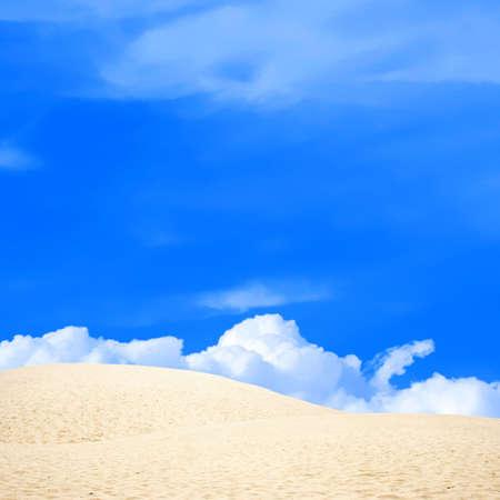 dune: dune in desert on background sky