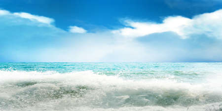 bathe: abstract scene of the glow sky and sea Stock Photo