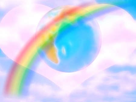 lea: abstract scene shining sky Stock Photo